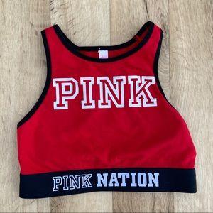 Victoria's Secret Pink nation red sport bra XS